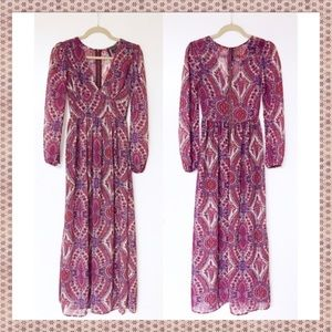 Long sleeve maxi dress by Fire Los Angeles. XS